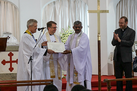 The Revd Dr Spurgeon Maher honored